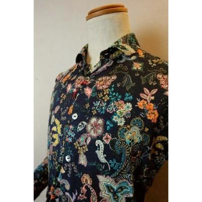 セール35%OFF ジーノ カジュアルシャツ ネイビー 春夏新作 イタリア製生地 メンズウェア gino