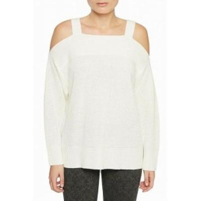 Sanctuary サンクチュアリ ファッション トップス Sanctuary NEW White Ivory Womens Size Medium M Knit Pullover Sweater