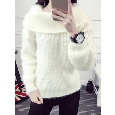 【送料無料】厚手 気質溢れる ファッション 合わせやすい 多色 着心地良い ニット セーター