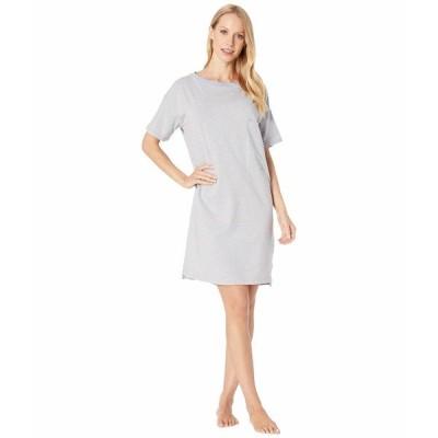 スキン ナイトウェア アンダーウェア レディース Natural Skin Margot Organic Cotton Sleepshirt Heather Grey/Blue Stripe