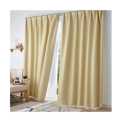 【送料無料!】無地調ストライプ柄ドビー織遮熱・遮光・防炎カーテン&昼間見えにくい・UVカットレースセット カーテン&レースセット, Curtains, sheer curtains, net curtains(ニッセン、nissen)
