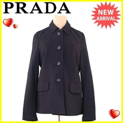 プラダ コート ジャケット ♯Mサイズ シングルボタン ステンカラー PRADA 中古