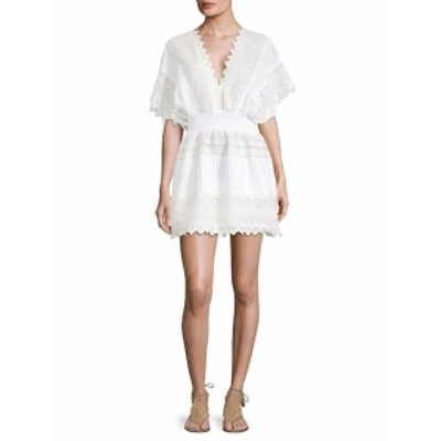KAS ニューヨーク レディース ワンピース V-Neck Embroidered Lace Dress