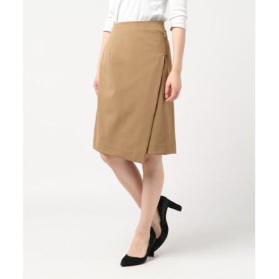 スカート 斜めジップラップスカート