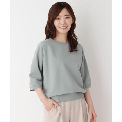 ミニ裏毛五分袖プルオーバー 763-12529