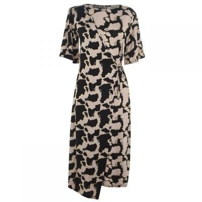 ビバ Biba レディース ワンピース ワンピース・ドレス Mixed Print Dress Cow Print