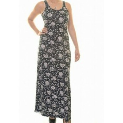 American  ファッション ドレス American Living Womens Maxi Dress Blue Size Medium M Floral Print