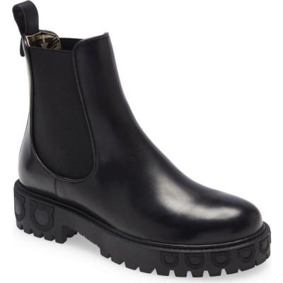 サルヴァトーレ フェラガモ SALVATORE FERRAGAMO レディース ブーツ チェルシーブーツ シューズ・靴 Varsi Gancini Chelsea Boot Black