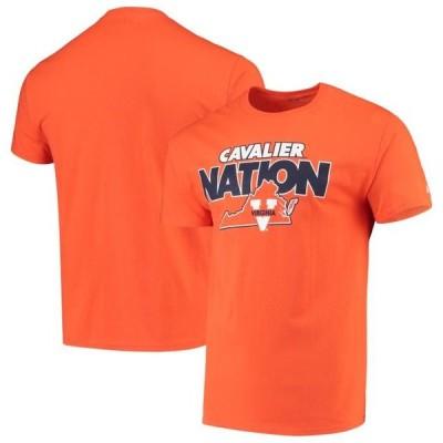 メンズ スポーツリーグ アメリカ大学スポーツ Men's Russell Athletic Orange Virginia Cavaliers Slogan T-Shirt Tシャツ