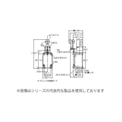 オムロン WLCA2-2N-N ローラ・レバー形2回路リミットスイッチ