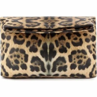ドリス ヴァン ノッテン Dries Van Noten レディース クラッチバッグ バッグ leopard-print leather clutch Camel