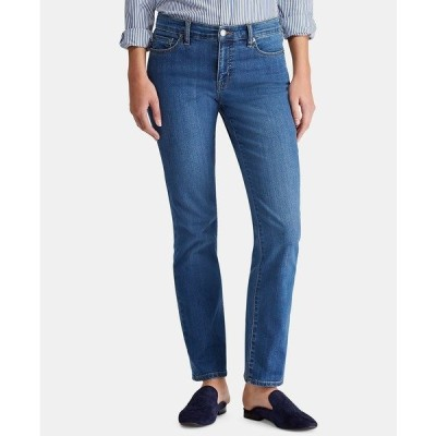 ラルフローレン デニムパンツ ボトムス レディース Super Stretch Modern Curvy Straight Jeans, Regular & Short Lengths Ocean Blue Wash