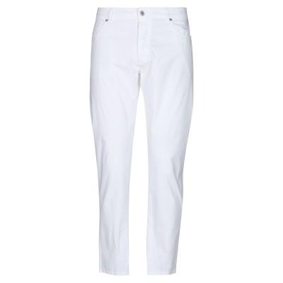 MASSIMO BRUNELLI パンツ ホワイト 32 コットン 97% / ポリウレタン 3% パンツ