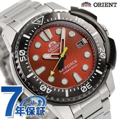 オリエント 70周年 記念モデル スポーツ M-FORCE 自動巻き メンズ 腕時計 RN-AC0L02R ORIENT エムフォース レッド 時計