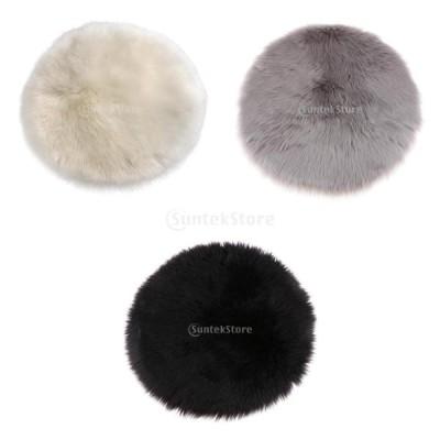円形ラグ シャギーラグ ふわふわ 暖かい冬 約11.81x11.81x2.36インチ