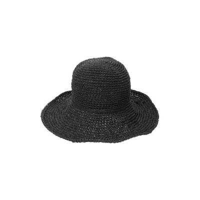 (koe/コエ)手編みペーパーシンプルハット/レディース ブラック