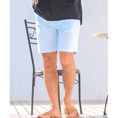 (CavariA/キャバリア)CavariA シンプルパナマショーツ ハーフパンツ メンズ パナマショーツ ショートパンツ 短パン シンプル ストライプ 無地 半ズボン【N】/メンズ ミント