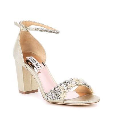 バッジェリーミシュカ レディース サンダル シューズ Finesse II Metallic Suede Block Heel Dress Sandals Platino