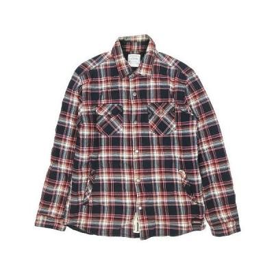 【中古】ディッキーズ Dickies チェック柄 ワークシャツ 長袖 中綿入り サイズXL 赤 レッド ◎5 メンズ 【ベクトル 古着】