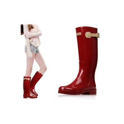 レインブーツ 長靴 レインシューズ レディース ロングブーツ ロング 防水 雨靴 おしゃれ 防寒 軽量 アウトドア
