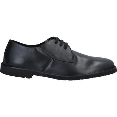 ロッコ ピー ROCCO P. メンズ 革靴・ビジネスシューズ シューズ・靴 Laced Shoes Black