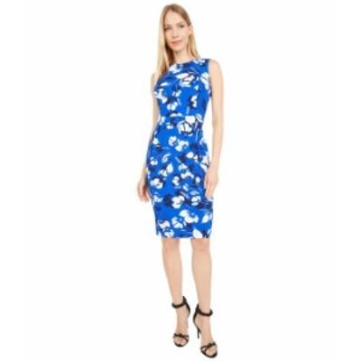 カルバンクライン レディース ワンピース トップス Floral Print Sheath Dress Regatta Multi