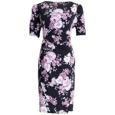 コネクテッド ワンピース トップス レディース Floral-Print Gathered-Waist Sheath Dress Dusty Rose