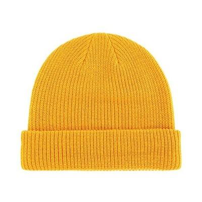 Connectyle クラシックメンズ暖かい冬用帽子 アクリルニットカフビーニーキャップ デイリービーニーハッ