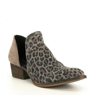ディバトゥルー レディース ブーツ・レインブーツ シューズ Shy Town Leopard-Print Suede Two-Piece Block Heel Booties