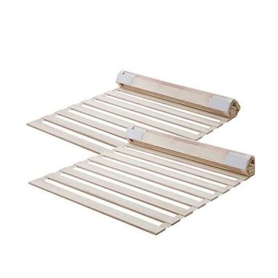 すのこベッド 折りたたみ ロール式 シングル 桐すのこマット 湿気対策 カビ 通気性 折り畳みベッド (ロール式?