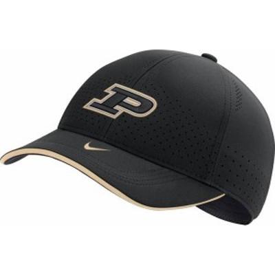 ナイキ メンズ 帽子 アクセサリー Nike Men's Purdue Boilermakers AeroBill Classic99 Football Sideline Black Hat -