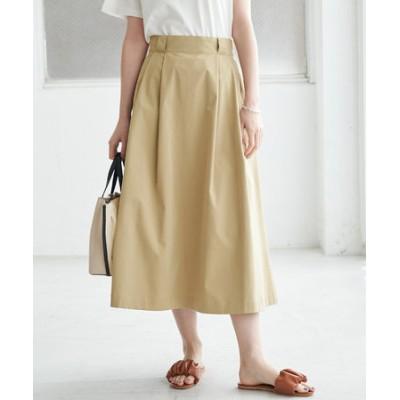 【UVカット】チノライクタックフレアスカート