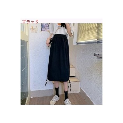【送料無料】ツーリング ミディ丈 スカート 女 夏 韓国風 白 何でも似合う 着 | 364331_A62802-7195548