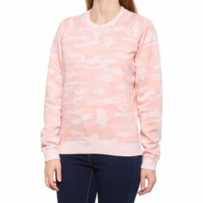 ラッキーブランド Lucky Brand レディース スウェット・トレーナー トップス Classic Camo Crew Sweatshirt Pink Multi
