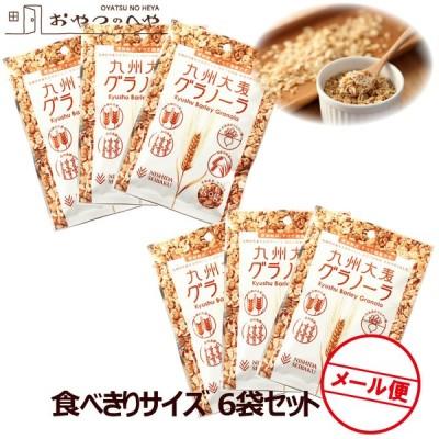 国産 九州 大麦 グラノーラ 小袋 50g×6 クリックポスト(代引き不可) 小分け 食べきりサイズ シリアル 朝食 軽食 お試し