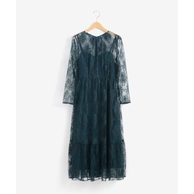 【ペルルペッシュ/Perle Peche】 Kaene 総レースドレス