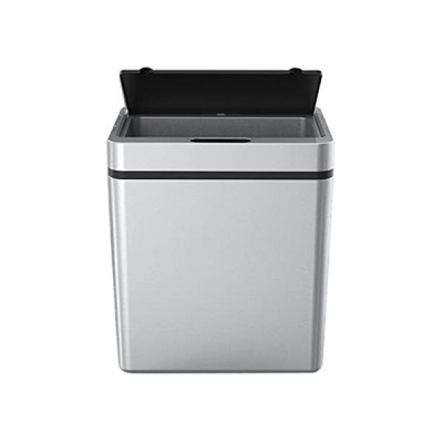 13L Smart Trash Can,Mute Metal Garbage Can,Induction Automatic Sensor Trash Can for Kitchen Bath Home Intelligent Electric Garbage Bin,Gray