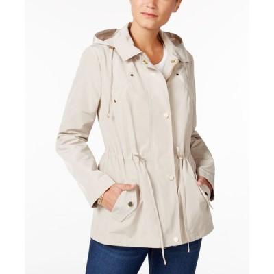 チャータークラブ レディース ジャケット・ブルゾン アウター Petite Water-Resistant Hooded Anorak Jacket