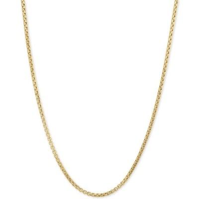 """イタリアン ゴールド ネックレス・チョーカー・ペンダントトップ アクセサリー レディース Box 20"""" Chain Necklace in 14k Gold Yellow Gold"""