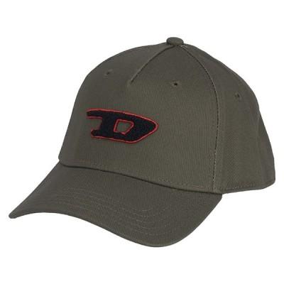 DIESEL ディーゼル C-DIGRA HAT 00SW2U 0KAVL 51F キャップ 帽子 メンズ レディース カーキ ロゴ ブラック レッド 刺繍 コットン 綿 ユニセックス 男女兼用(d