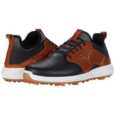 プーマ Ignite Pwradapt Caged Crafted メンズ スニーカー 靴 シューズ Puma Black/Leather Brown/Puma Team Gold