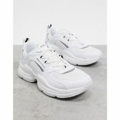 アルマーニ Armani Exchange メンズ スニーカー チャンキーヒール シューズ・靴 Chunky Sole Logo Trainers ホワイト