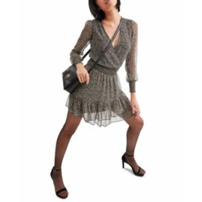 マイケルコース レディース ワンピース トップス Animal-Print Mini Dress Caramel