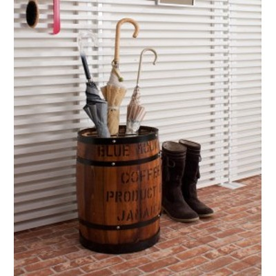 国産木樽型 傘立て ブラウン 傘 収納 傘立 傘たて おしゃれ アンブレラ スタンド 玄関収納 たる タル 木樽 バレル 木製 ウッド(代引不可)