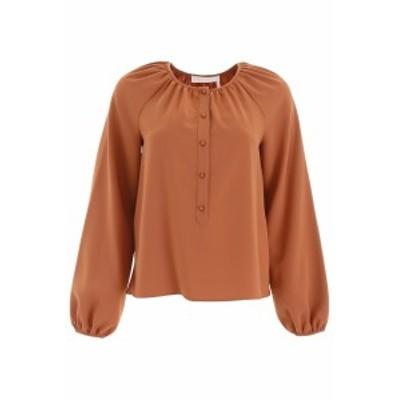 SEE BY CHLOE/シーバイクロエ ブラウス HENNA BROWN See by chloe crepe blouse レディース 春夏2019 CHS19WHT13012 ik