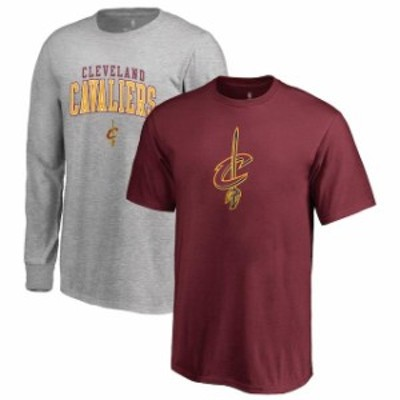 Fanatics Branded ファナティクス ブランド スポーツ用品  Fanatics Branded Cleveland Cavaliers Youth Wine/Gray Square Up Combo T-Sh