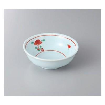 鉢 小鉢 青地赤絵小花反3.5鉢