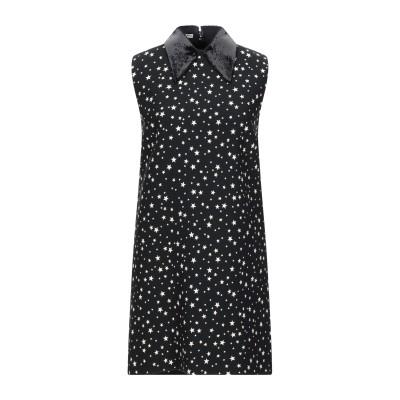 ミュウミュウ MIU MIU ミニワンピース&ドレス ブラック 40 レーヨン 98% / ポリウレタン 2% ミニワンピース&ドレス