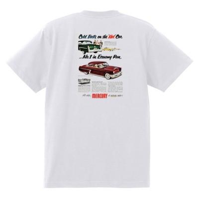 アドバタイジング マーキュリーTシャツ 白 1251 黒地へ変更可 レトロ  1952 モントクレア メテオ ホットロッドローライダー フォード