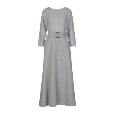 NATAN ロングワンピース&ドレス グレー 42 ウール 85% / ナイロン 10% / カシミヤ 5% ロングワンピース&ドレス